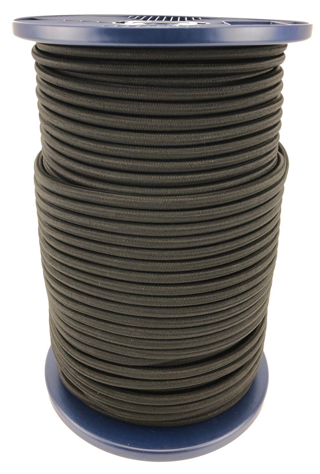 12mm Negro Bungee Elastica  Cuerda X 50 Metros Cuerda Elástica Anudable  el precio más bajo