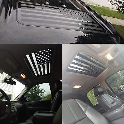 American flag decal window sunroof vinyl graphic sticker large truck car v6-1