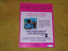It's Time to Say I Love You sheet music from THE OTHER SIDE-MOUNTAIN PT. 2  1978