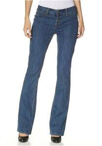 Details zu Arizona Bootcut Jeans K Gr.16 20 NEU Damen Hose Stretch Blau AJC Blue Stone L30