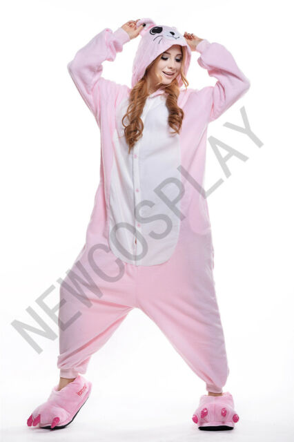 Vellón Kigurumi Pijama animales de dibujos animados Cosplay Adulto Cartoon Mono