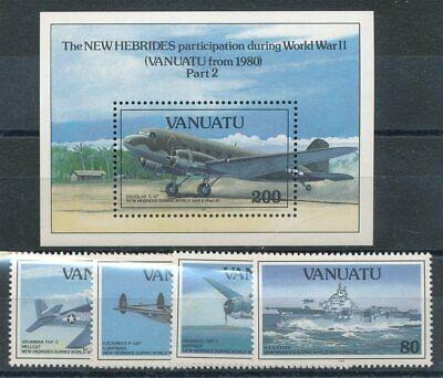 Briefmarken UnabhäNgig 300562 Vanuatu Nr.914-917+block 20** Flugzeuge