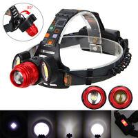 18000lm Zoom 3X XM-L T6 LED Recargable Linterna Frontal Head Lámpara Luz Cabeza