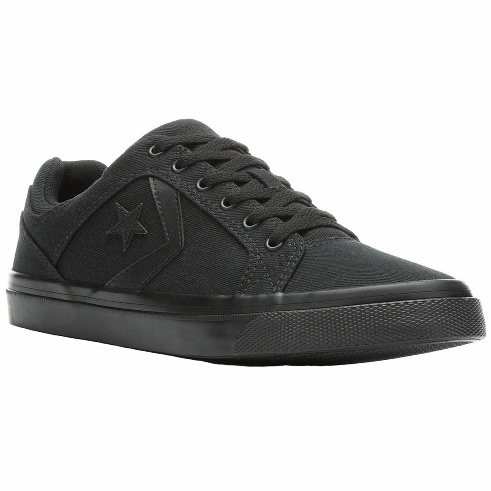 Converse El Low-top Distrito Ox Negro Hombre Canvas Low-top El Lace-Up Sneakers Trainers d83111