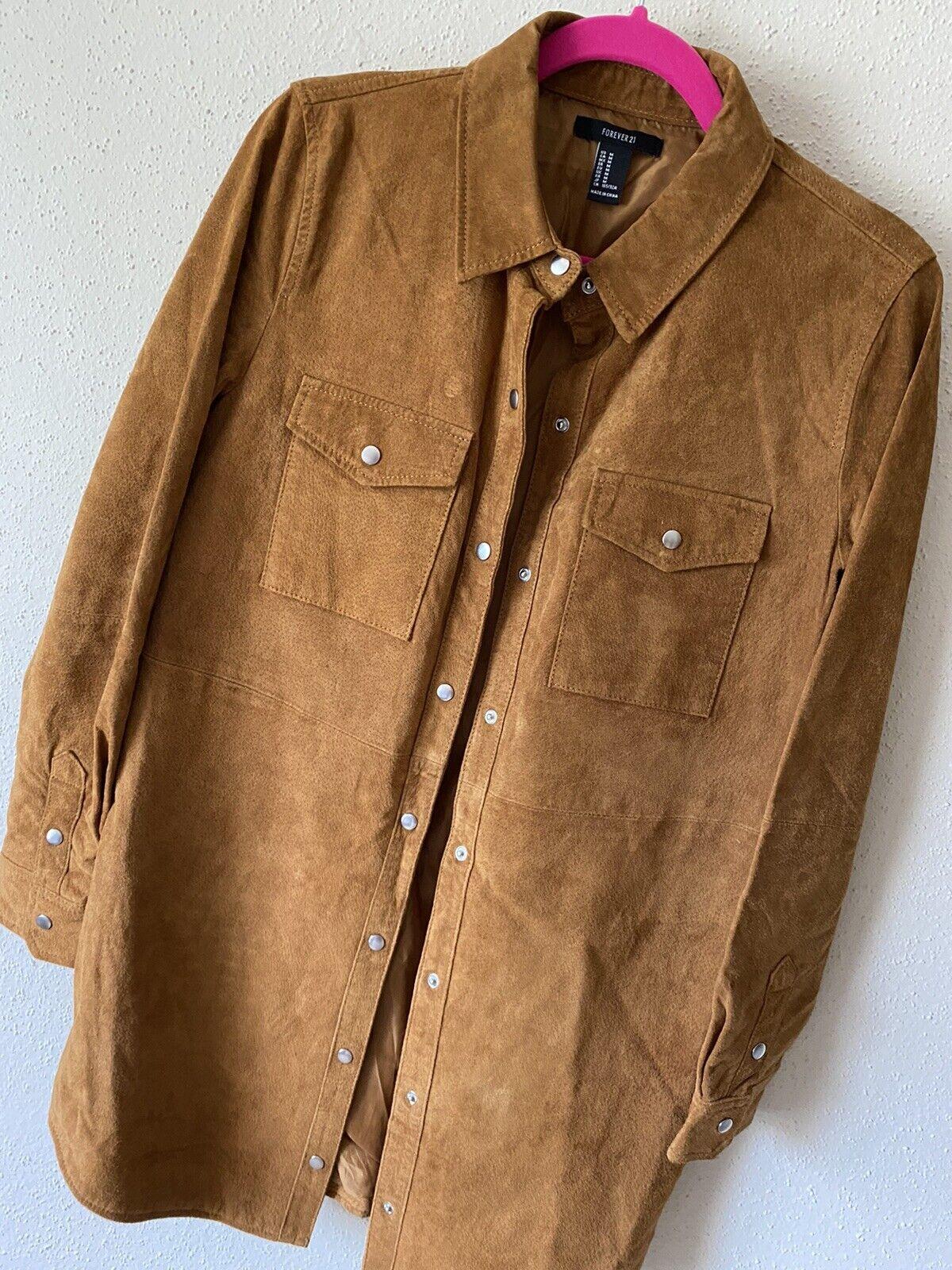 forever 21 leather jacket Shirt Size M - image 5