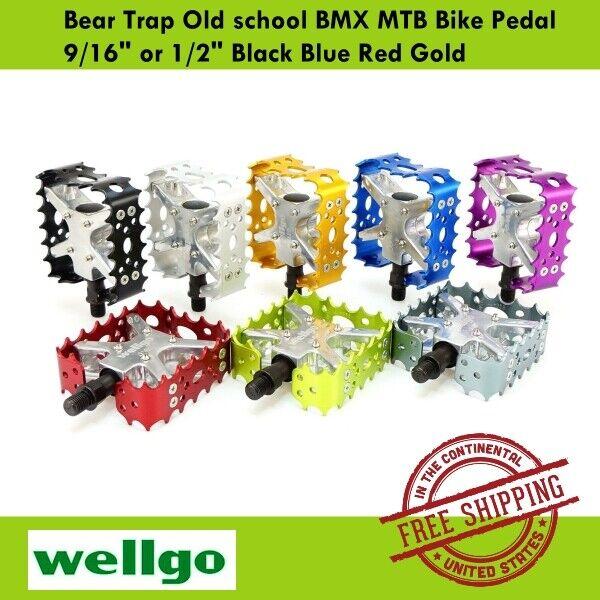 BEAR TRAP BIKE PEDALS BMX//MTB VP OLD SCHOOL BLACK NEW