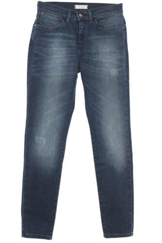 WRANGLER HIGH RISE SKINNY JEANS donna pantaloni pants stretch Denim Vintage Blue