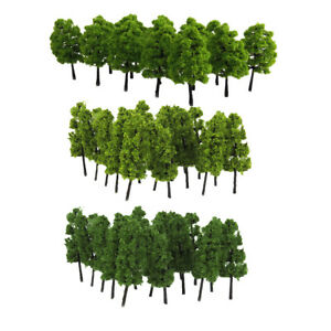 Details about 40Pcs Mini Plastic Model Trees 1/100 1/200 HO Z Sacle for  Diorama Landscape