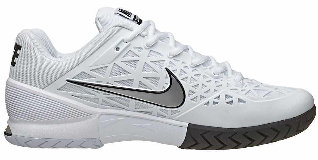 Nike ZOOM CAGE 2 White Tennis Metallic Silver 705247-100 Men's Tennis White Shoes 5e1f83
