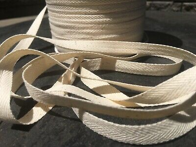 20 yards Twill Tape For Face Masks 1//4 Inch Natural Cotton Binding IN STOCK