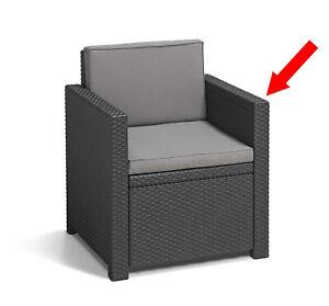 Peachy Details About Allibert Keter Monaco Rattan Garden Furniture Spare Parts Ls Right Arm Graphite Pabps2019 Chair Design Images Pabps2019Com