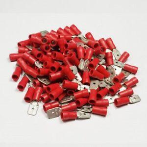 BULK 1000 X RED 2.8MM FEMALE SPADE CONNECTORS CRIMPS WIRING WT1