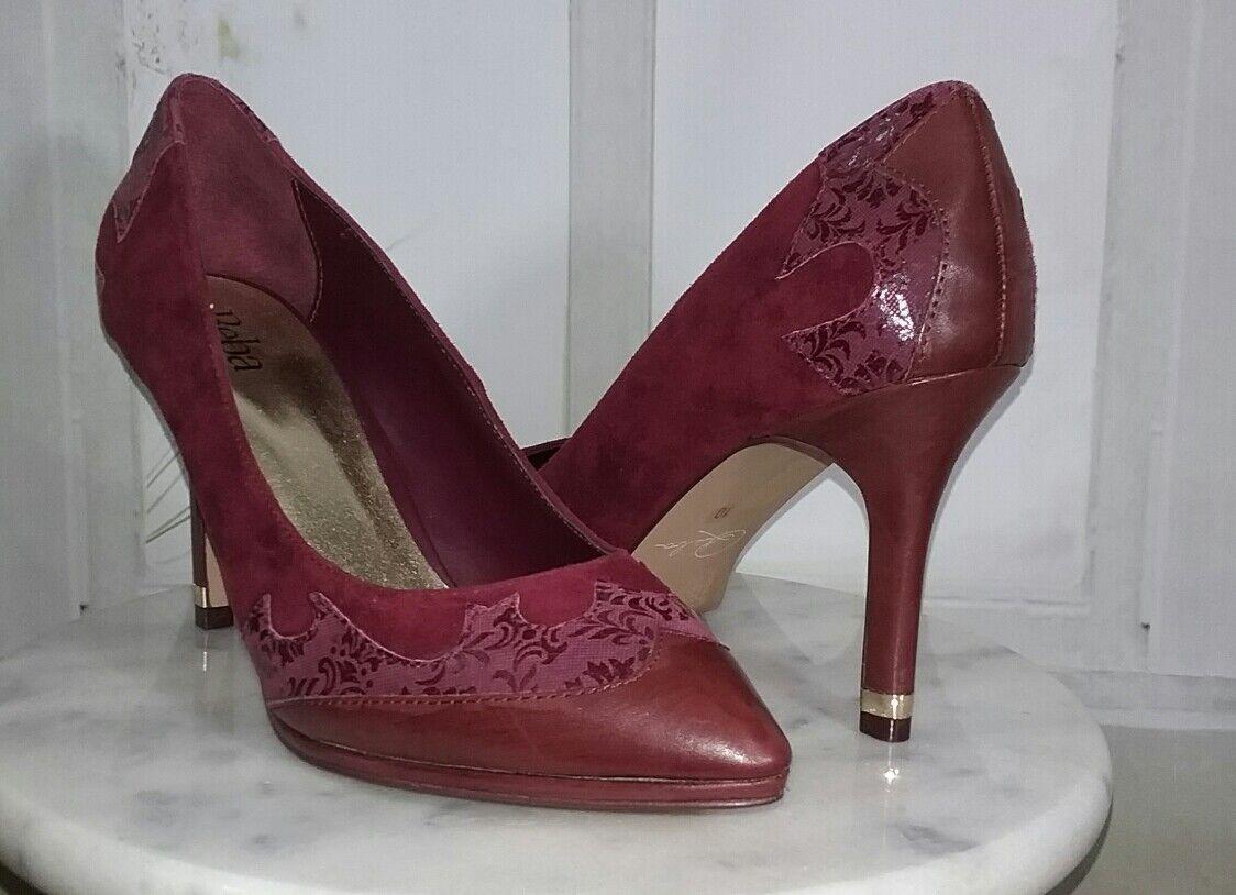 memorizzare Reba Paulie Western Look Pointed Toe Yoke Pumps Dimensione 10M 10M 10M Dark rosso Burgundy  risparmia fino al 70% di sconto