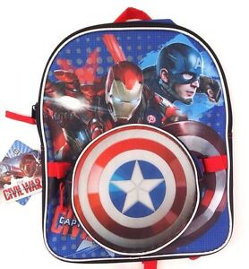 Marvel Comics Avengers Captain America Boy s Backpack   Lunch-Bag 2 ... 7159beee28