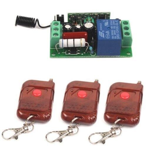 Récepteur New AC 220 V 1CH relais de télécommande sans fil commutateur 3 Émetteur