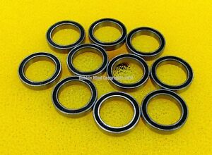 10PCS Metal Rubber Sealed Ball Bearings 10*19*7 63800RS 10x19x7 mm 63800-2RS