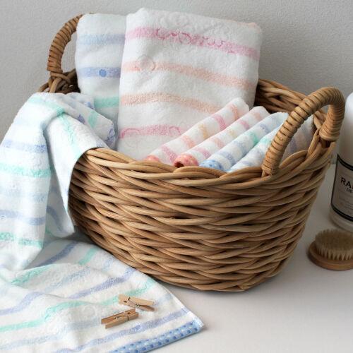 Hiorie Imabari rayures horizontales moelleux serviette de bain 2 draps coton 100/% Japon