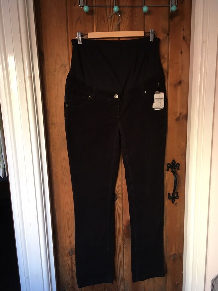 Yessica Noir Cordon Jeans Grossesse Taille 16 Neuf