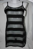 Bluebella Zoe Chemise Slip Striped Black Uk 12 Medium