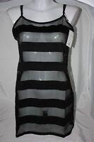 Bluebella Zoe Chemise Slip Striped Black Uk 12 Medium