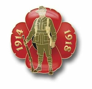 POPPY 1914-1918 PIN BADGE