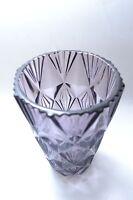 Beautiful lilac mid century vintage Czech art glass vase by Sklo Union