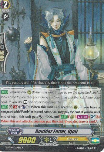 BOULDER FETTER G-BT08//029EN R GJOLL CARDFIGHT VANGUARD CARD