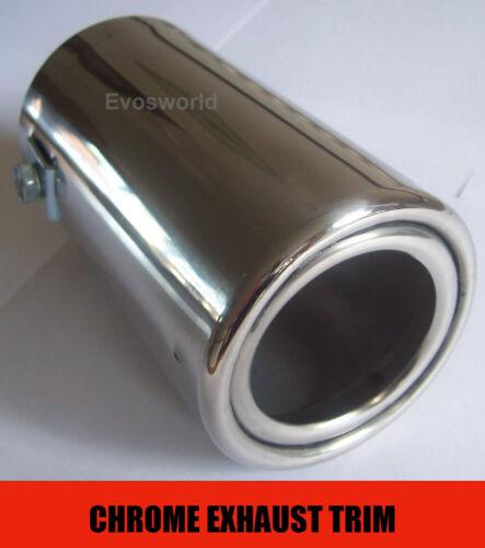 CHROME EXHAUST TAILPIPE TIP TRIM END MUFFLER FINISHER FIAT 500 POP ABARTH