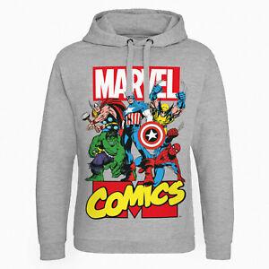Felpa Avengers Originali Hulk Capitan America Iron Man Sweat Sweatshirt Marvel