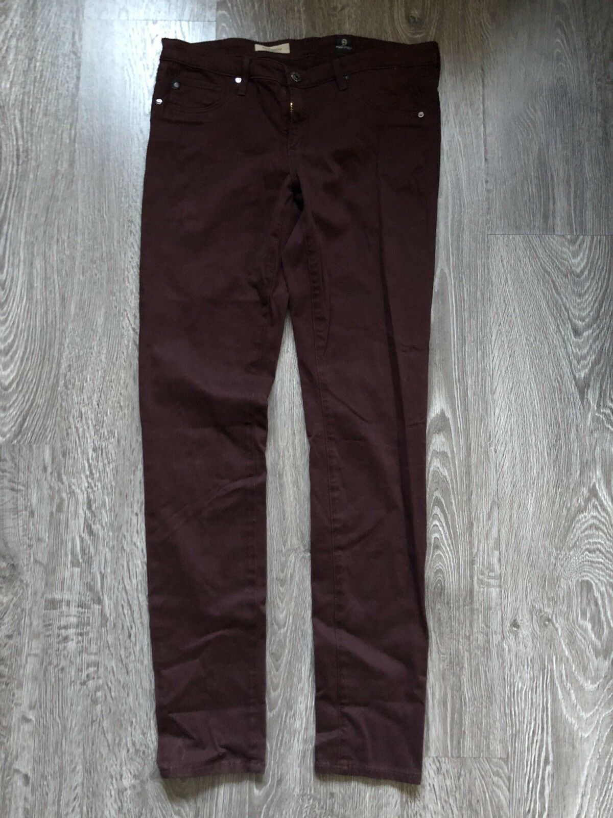 AG The Legging Skinny Jeans Burgundy Wine Maroon Red Size 30 R EUC