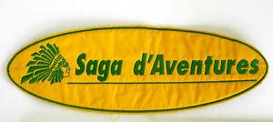 Ancien écusson SAGA D'AVENTURES - Collector - Jaune et Vert 57vOAdPt-08050004-159855537