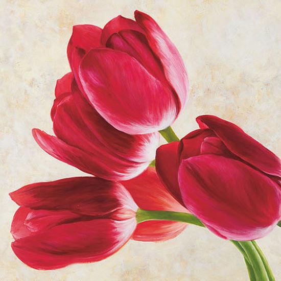 LUCA VILLA VILLA VILLA   tulipani CONCERTO IMMAGINE Telaio incastro TELA FIORI MODERNO 77b9c2