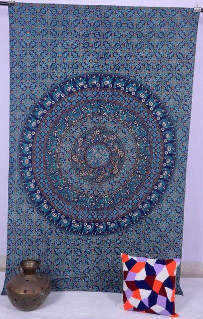 Elephant Mandala Tapestry Hippie Wall Hanging Ethnic Bedspread Indian Wall Decor