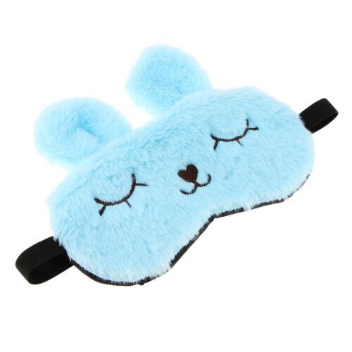 Kids Adults Plush Bunny Rabbit Sleep Mask Eye Shade Cover Blindfold Gifts