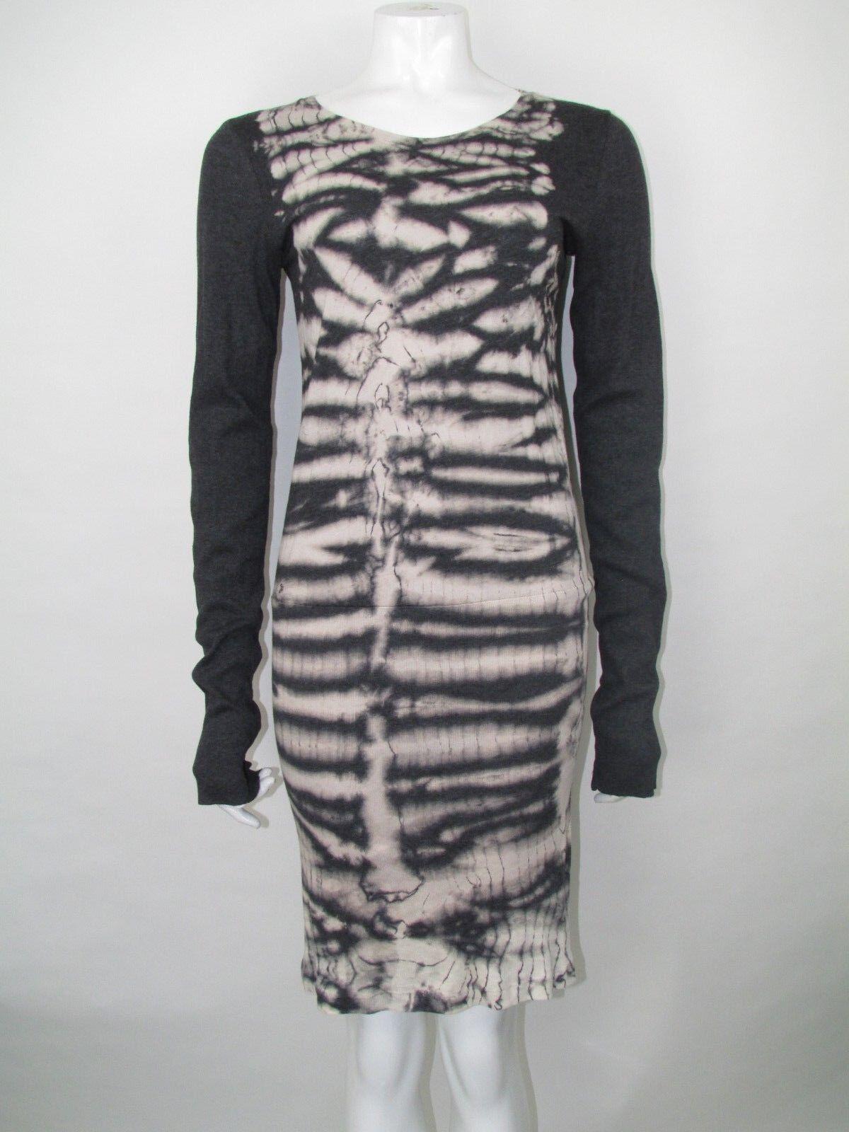 Raquel Allegra Rib Tie Dye Woven Jumper Dress Größe 3 BNWTS