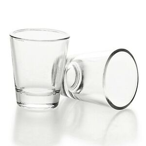 1-5-oz-45ml-Shot-Glass-with-Heavy-Base-Clear-Glass-Round-2-Pack