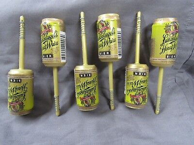 6 PACK MILLER LIGHT NEW BEER CAN  FISHING SPRING BOBBERS  STICK FLOATS