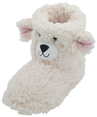 Slumberzzz Kids Fleece 3D Bear Bootie Slipper