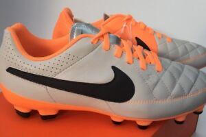 Détails sur Nike Junior Tiempo Genio Chaussures de Football Cuir Sol Ferme UK 5 630861 008