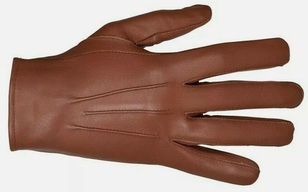 Leather Sheepskin Gloves Cognac (Men)