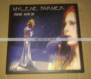 MYLENE-FARMER-AINSI-SOIT-JE-LIVE-CD-2-TITRES-COLLECTOR