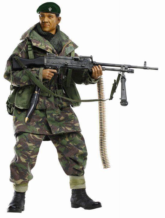 Dragon 1   6 - skala 12  falkland - krieg gmpg gunner dhak gurung action - figur 70845