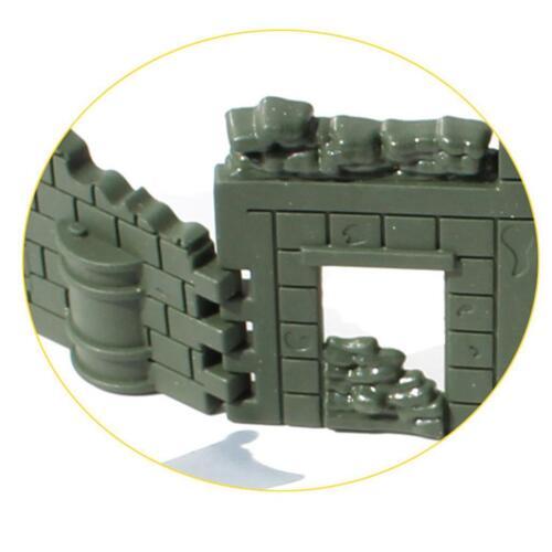 Military Base Set Toy Army Blockhouse Sandbag Blindage for Sand Scene Model