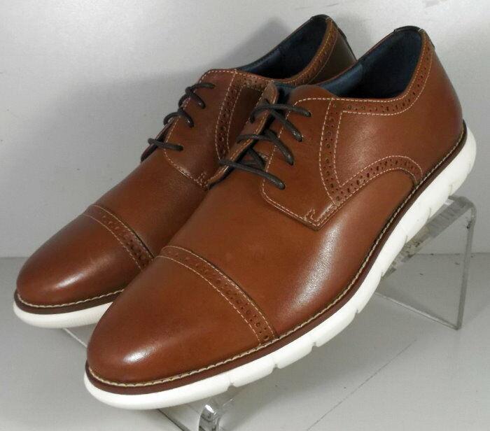 20NP917202 SP50 Men's Shoes Size 9 M Dark Tan Leather Lace Up Johnston & Murphy