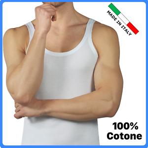 Canottiera uomo spalla stretta intima in COTONE 100% spallina canotta vogatore