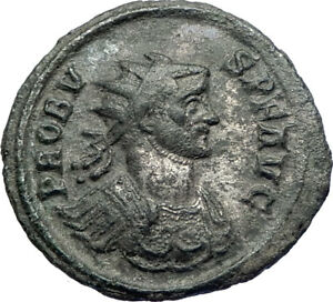 PROBUS-276AD-Authentic-Genuine-Silvered-Ancient-Roman-Coin-Fides-Trust-i73674