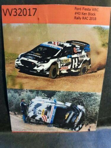 K.BLOCK CATALOGNE 2018 COLORADO VV32017 DECALS 1//32 FORD FIESTA WRC #43