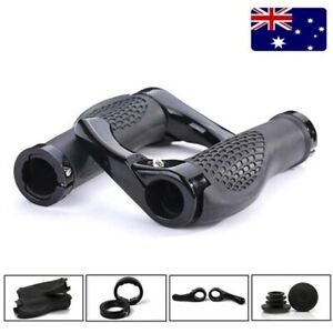 Ergonomic-Handlebar-Grips-Bar-Ends-Non-Slip-Double-Lockout-MTB-Bike-Ultra-Light