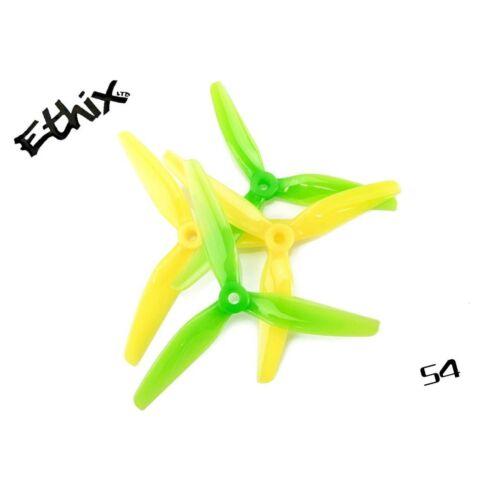 16pcs HQProp Ethix S4 Prop Lemon Lime 5x3.7x3 Tri-Blade Propeller ...