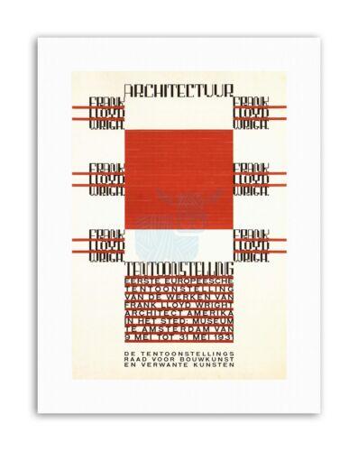 ARCHITECTURE FRANK LLOYD WRIGHT AMSTERDAM NETHERLANDS Exhibition Canvas art